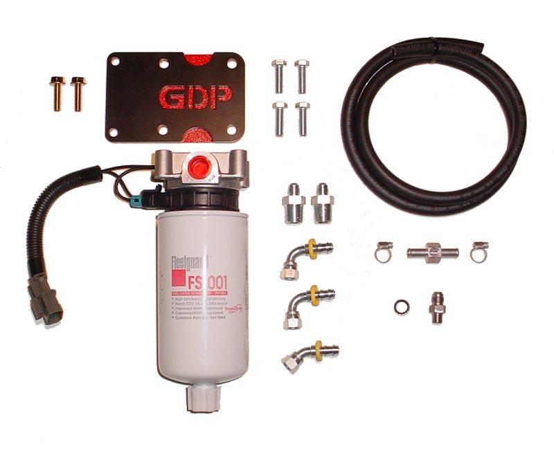[SCHEMATICS_4US]  98.5-'02 Dodge Ram 5.9L GDP MK-10 + Big Line Kit (heated) | Glacier Fuel Filter |  | Glacier Diesel Power