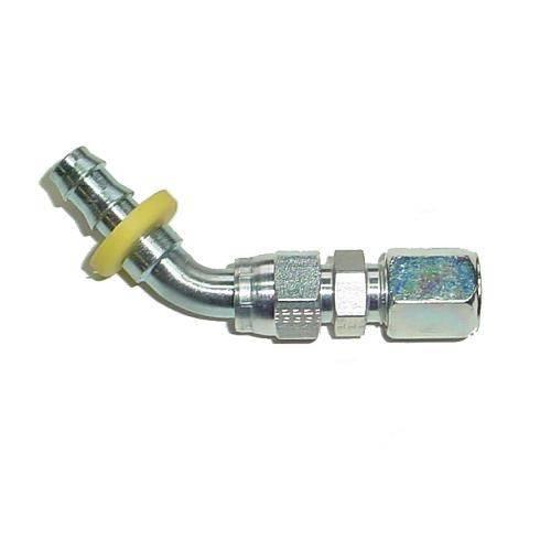 "Glacier Diesel Power - Parker 3/8"" Compression to 3/8"" PushLok 45° Adapter (steel)"