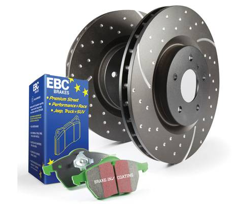 EBC Brakes - '09-'18 EBC Brakes Stage 3 Truck Dimpled and Slotted Front Brake Kit