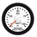 Gauges & Mounts - Isspro EV2 Analog Gauges & Accy's - ISSPRO - EV2 Exhaust Back Pressure 0-100