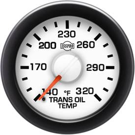 Gauges & Mounts - Analog Gauges & Accy's - ISSPRO - IssPro R14566 EV2 Trans Temp Gauge 140°-230°