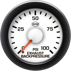 Gauges & Mounts - Analog Gauges & Accy's - ISSPRO - IssPro R14155 EV2 Exhaust Back Pressure 0-100