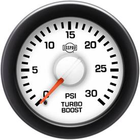 Gauges & Mounts - Analog Gauges & Accy's - ISSPRO - IssPro R14133 EV2 Turbo Boost 0-30 PSI