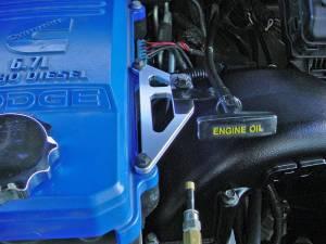Glacier Diesel Power - '07.5-'18 Cummins 6.7L GDP Billet Engine Oil Dipstick Bracket - Image 2