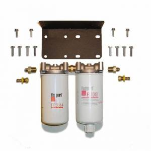 Fuel Filter Systems - DIY & Universal Filter Kits - Filter Systems - Rattlin' Truck and Tractor - Universal Severe Service Twin Filter Kit (2 Micron & F/W Separator Combo)