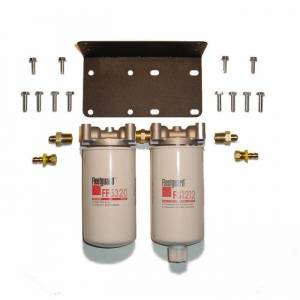 Fuel Filter Systems - DIY & Universal Filter Kits - Filter Systems - Rattlin' Truck and Tractor - Universal Twin Filter Kit (2 Micron & F/W Separator Combo)