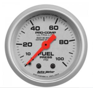 "Auto Meter - 2-1/16"" FUEL PRESSURE, 0-100 PSI, MECHANICAL, ULTRA-LITE"